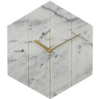 Karlsson Marble Hexagon Wall Clock - White - Clock Gifts