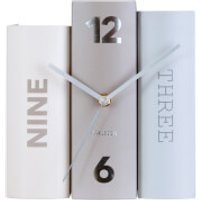 Karlsson Book Table Clock - Basics Paper - Clock Gifts