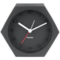 Karlsson Hexagon Alarm Clock - Concrete Black - Karlsson Gifts