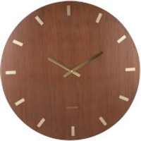 Karlsson Wood XL Wall Clock - Dark Wood - Karlsson Gifts