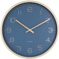 Karlsson Gold Elegance Wall Clock - Blue - Karlsson Gifts