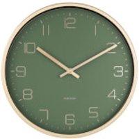 Karlsson Gold Elegance Wall Clock - Green