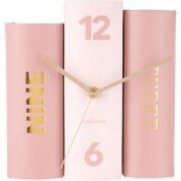 Karlsson Book Table Clock - Pink Tones Paper - Karlsson Gifts
