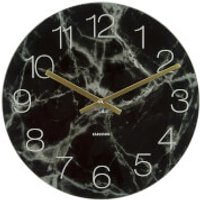 Karlsson Glass Marble Medium Wall Clock - Black - Karlsson Gifts