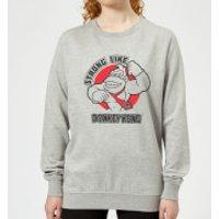 Nintendo Donkey Kong Strong Like Donkey Kong Women's Sweatshirt - Grey - 5XL - Grey