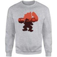 Nintendo Donkey Kong Silhouette Serengeti Sweatshirt - Grey - L - Grey