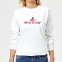 Nintendo Mario Kart Here We Go Mario Women's Sweatshirt - White - XL - White