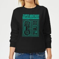 Nintendo Super Nintendo Entertainment System Women's Sweatshirt - Black - XL - Black