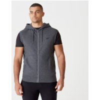 Tru-Fit Sleeveless Hoodie 2.0 - S - Charcoal Marl