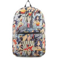 DC Comics Wonder Woman Vintage Poster Backpack - Red - Woman Gifts