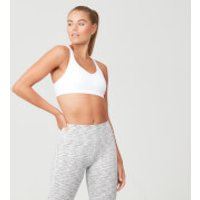 Power Mesh Sports Bra - XL - White