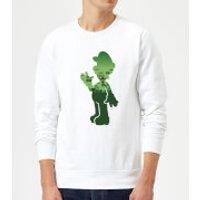 Nintendo Super Mario Luigi Silhouette Sweatshirt - White - 4XL - White
