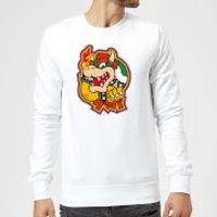 Image of Nintendo Super Mario Bowser Kanji Sweatshirt - White - XXL - White