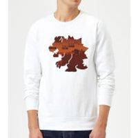 Nintendo Super Mario Bowser Silhouette Sweatshirt - White - XXL - White