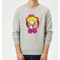 Nintendo Super Mario Peach Kanji Sweatshirt - Grey - L - Grey