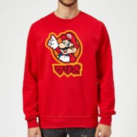 Nintendo Super Mario Mario Kanji Sweatshirt - Red - L - Red