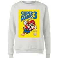 Nintendo Super Mario Bros 3 Womens Sweatshirt - White - S - White