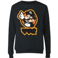 Nintendo Super Mario Mario Kanji Women's Sweatshirt - Black - L - Black