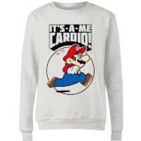 Image of Nintendo Super Mario Cardio Women's Sweatshirt - White - XS - White