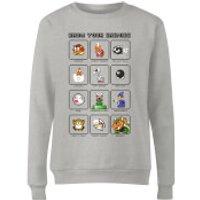 Nintendo Super Mario Know Your Enemies Women's Sweatshirt - Grey - XL - Grey