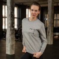 Healthy Madame No Pain No Gain Sweatshirt - Grey - XXL - Grey