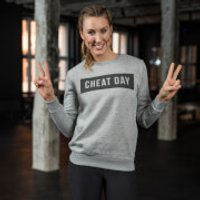 Healthy Madame Cheat Day Sweatshirt - Grey - L - Grey