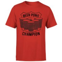 Beershield Beer Pong Champion T-Shirt - Red - L - Red