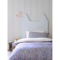 Christy Junior Ladybird Floral Duvet Set - Indigo - Cot Bed - Blue