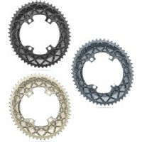 AbsoluteBLACK Sub-Compact Oval Road Chainring - 48T - 4 Bolt 110BCD - Grey