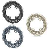 AbsoluteBLACK Shimano R91000/R8000 Oval Road Chainring - 36T - 110BCD - Black