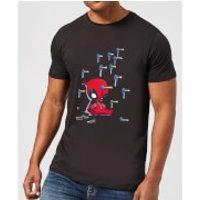 Marvel Deadpool Cartoon Knockout T-Shirt - Black - S - Black - Cartoon Gifts
