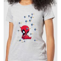 Marvel Deadpool Cartoon Knockout Women's T-Shirt - Grey - XL - Grey