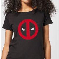 Marvel Deadpool Cracked Logo Women's T-Shirt - Black - XS - Black