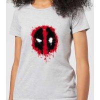 Marvel Deadpool Splat Face Women's T-Shirt - Grey - M - Grey