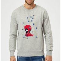 Marvel Deadpool Cartoon Knockout Sweatshirt - Grey - XXL - Grey