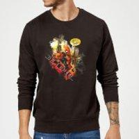 Marvel Deadpool Outta The Way Nerd Sweatshirt - Black - 5XL - Black - Nerd Gifts