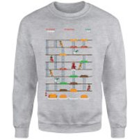 Marvel Deadpool Retro Game Sweatshirt - Grey - Xxl - Grey