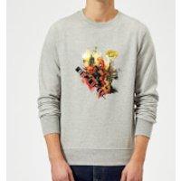Marvel Deadpool Outta The Way Nerd Sweatshirt - Grey - XXL - Grey - Nerd Gifts