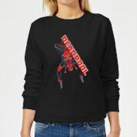 Marvel Deadpool Hang Split Women's Sweatshirt - Black - XS - Black