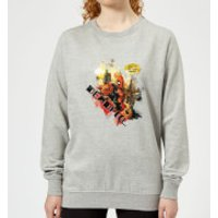 Marvel Deadpool Outta The Way Nerd Women's Sweatshirt - Grey - XS - Grey - Nerd Gifts