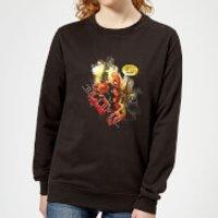 Marvel Deadpool Outta The Way Nerd Women's Sweatshirt - Black - 5XL - Black - Nerd Gifts