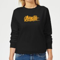 Marvel Avengers Infinity War Orange Logo Women's Sweatshirt - Black - M - Black