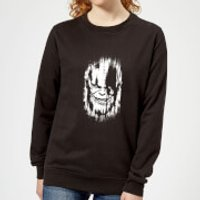 Marvel Avengers Infinity War Thanos Face Women's Sweatshirt - Black - XS - Black
