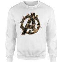 Marvel Avengers Infinity War Avengers Logo Sweatshirt - White - 3XL - White