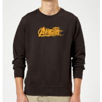 Marvel Avengers Infinity War Orange Logo Sweatshirt - Black - XL - Black