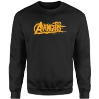 Marvel Avengers Infinity War Orange Logo Sweatshirt - Black - XL - Black