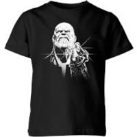 Marvel Avengers Infinity War Fierce Thanos Kids' T-Shirt - Black - 11-12 Years - Black - War Gifts