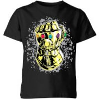 Marvel Avengers Infinity War Fist Comic Kids' T-Shirt - Black - 11-12 Years - Black - War Gifts