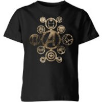 Marvel Avengers Infinity War Icon Kids' T-Shirt - Black - 11-12 Years - Black - War Gifts