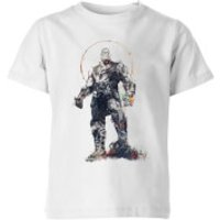 Marvel Avengers Infinity War Thanos Sketch Kids' T-Shirt - White - 5-6 Years - White - War Gifts